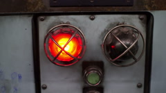 Industrial Machinery Red Light Handheld - stock footage
