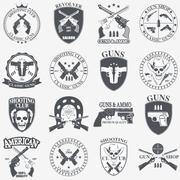 Stock Illustration of Classic Guns emblem