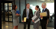 Business people handshaking Stock Footage