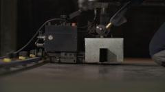 Welding of Metal Constructions in Heavy Industry Stock Footage