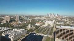 Aerial view of Houston Museum District. Stock Footage