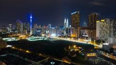Kuala Lumpur Nightscape Time Lapse Stock Footage