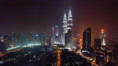 A Hazy Sunset In Kuala Lumpur City Stock Footage