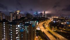 Time Lapse 19th N at Berembang Apartment Stock Footage