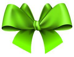 Big green bow Stock Illustration