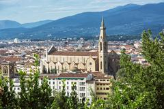 Stock Photo of Basilica of Santa Croce, Florence, Italy, travel destination