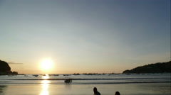 Sunset at the beach of San Juan del Sur, time lapse Stock Footage