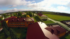 Aerial shot of Belarusian countryside Stock Footage