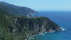 Cinque Terre Coastline Corniglia and Manarola - 29,97FPS NTSC Stock Footage