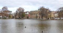Opera Building In Stuttgart 4k Stock Footage
