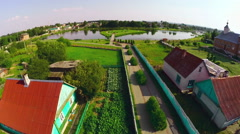 Ostrovets village - Belarusian countryside Stock Footage