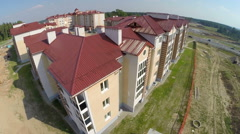New housing in the Belarusian village. Stock Footage