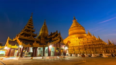 Shwezigon Paya Pagoda Of Bagan, Myanmar Stock Footage