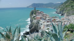 Group Coming out of Cave Vernazza - 29,97FPS NTSC - stock footage