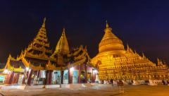 Shwezigon Paya Pagoda Of Bagan, Myanmar (tilt up) Stock Footage