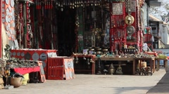 Stalls with souvenirs Stock Footage