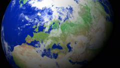 4K Earth Zoom: Moscow - Russia Stock Footage