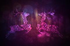 Stock Illustration of Ornamental Deer Background