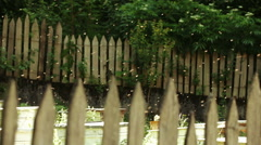 Hive bees behind fence Stock Footage
