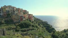 Sunset at Corniglia Cinque Terre - 29,97FPS NTSC Stock Footage