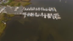 Aerial. Flying over Yachts. Staten Island. Great Kills Harbour. - stock footage