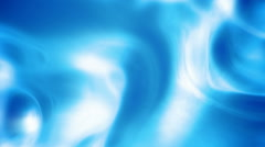 Abstract blue glowing liquid background seamless loop Stock Footage
