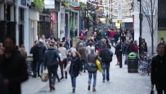 Crowds of people in London, England, Europe - stock footage