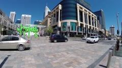 Perth inner city near train station - stock footage