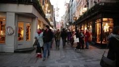 Establishing shot of London, Kingly street, Soho, London, England, Europe Stock Footage