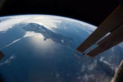 Ungraded: Flying in Earth's Orbit Over New Zealand Toward Pacific Ocean Stock Footage