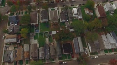 Aerial view of residential area in Staten Island, New York. Stock Footage