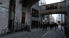 Kingly Street, Soho, London: wide shot Stock Footage