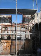 Old Stone Farmhouse With Scaffolding Stock Photos