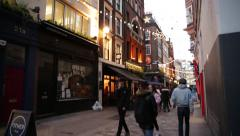Pubs in Kingly Street, Soho, London, England Stock Footage