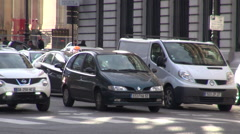 France, Paris, Boulevard Haussmann, traffic Stock Footage