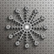 Stock Illustration of Paper lace doily, decorative snowflake, mandala, arabic ornament