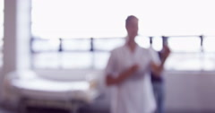 Blurred view of a nurse Stock Footage