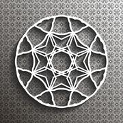 Paper lace doily, mandala, arabic ornament - stock illustration
