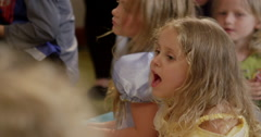 Children singing birthday song Stock Footage