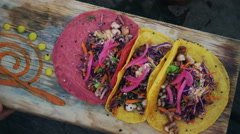 Fresh Octopus Tacos - stock footage