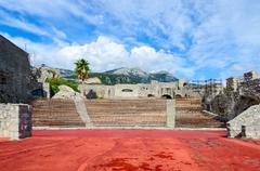 Amphitheatre in fortress Kanli Kula, Herceg Novi, Montenegro Stock Photos