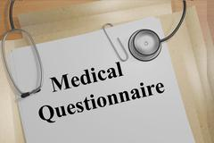 Medical Questionnaire concept - stock illustration