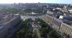 4K Aerial shot of Volgograd city in Russia. Stock Footage