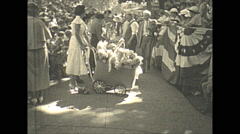 Vintage 16mm film, 1935, people, baby parade #4 Stock Footage