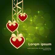 valentine bokeh background - stock illustration