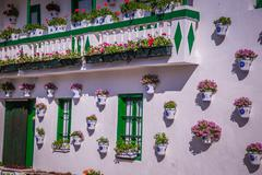 typical image in the Andalusian province of Malaga, Spain - stock photo