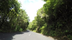 4K Video from a On-board-camera an a mountain road Stock Footage