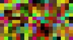 Multicolored Digital Mosaic Stock Footage
