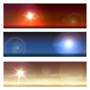 Cosmic Landscapes Set - stock illustration
