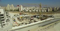 City, crane,  Building,   Construction site  Stock Footage